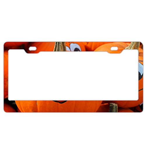 KSLIDS Halloween Pumpkin Licenses Plates Frames Car Licenses Plate Covers Holders for US -