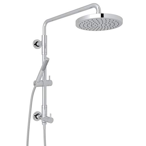 ROHL L0095KIT1APC RISER WITH DIVERTER/HANDSHOWER/HOSE/SHOWERHEAD SET, Polished Chrome