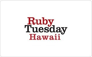 Ruby Tuesday Hawaii Gift Card - Stores Kihei