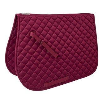 Dover Saddlery Quilted All-Purpose Saddle Pad, Burgundy