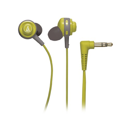 Audio Technica ATHCOR150LG In-Ear Headphones, Lime (Audio Technica Green)