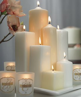 6 Inch H x 2 Inch Dia Round Pillar Candle White Set of 1 - by Weddingstar