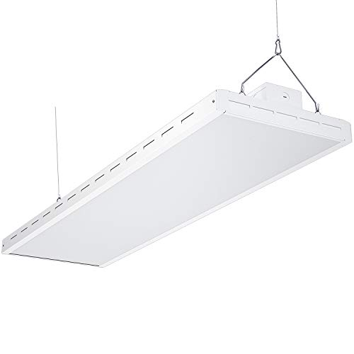 AntLux 4FT LED Linear Integrated Bay Light Fixture - 220W (800W Equiv.), 26500lm, 5000K, Dimmable, Hanging Warehouse Lights, Industrial Indoor Area Workshop Garage High Bay LED Lighting