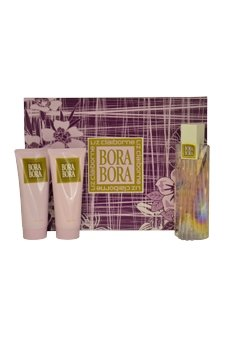 Bora Bora Gel Perfume - Bora Bora for Women Gift Set - 3.4 oz EDP Spray + 3.4 oz Body Lotion + 3.4 oz Shower Gel