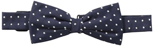 Brooks Brothers Little Boys' Navy Dot Bow, Blue, One Size (Brooks Brothers Tie Silk)