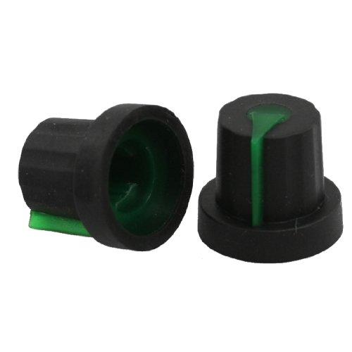 20x  6mm Shaft Hole Dia Knurled Grip Potentiometer Pot Knobs Caps color randomSA