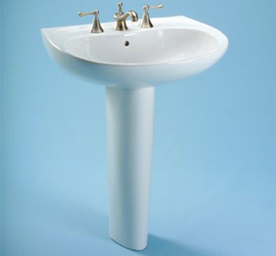 Toto LPT242.8G#11 Prominence Pedestal Lavatory with SanaGloss, Colonial - Cotton Prominence Sink Bathroom