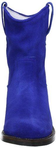 Cobalt Blau blue Botines Suede HIP Cobalt azul de Burned mujer D1887 cuero q5x41R7