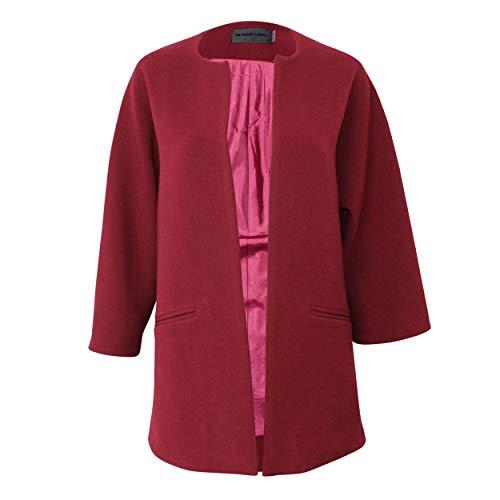 Blaque Label Womens Long Everyday Jacket Burgundy Medium