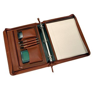 Leather Deluxe Writing Padfolio (Royce Leather Deluxe Convertible Zip Around BinderFolio -)
