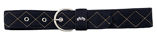 Equine Couture Diamond Quilted Suede Belt with Diagonal Line ()