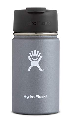 Hydro Flask 12 oz Travel Coffee Flask | Stainless Steel & Vacuum Insulated | Wide Mouth with Hydro Flip Cap | Graphite