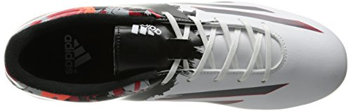 Adidas Performance Messi 10,3 superficies firmes de fútbol de la grapa, Power Teal / Running White White/Sharp Grey/Light Scarlet