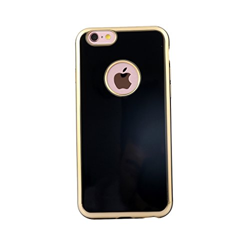 Phone Taschen & Schalen Für iPhone 6 Plus & 6s Plus Galvanotechnik Gold Edge Soft TPU Schutzhülle ( Color : Black )