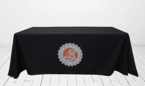 Custom Premium Full Color Table Covers & Throws 100% Polyester for Trade Show, Event and Exhibition Display (3 Sided, for 6' x 2.5' Table)