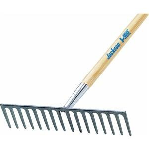 Forged Steel Blade Industrial Rakes - 17-7/8'' heavy duty roadrake 16-teeth