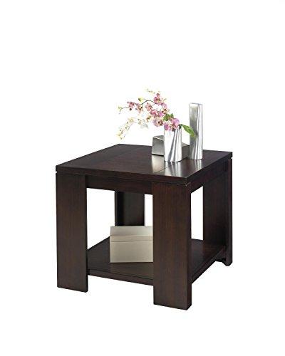 Progressive Furniture Waverly Square Lamp Table, Vintage Walnut