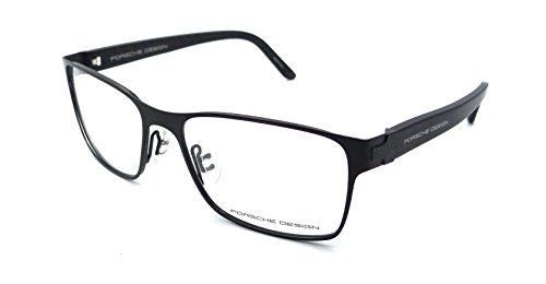 Porsche Design Rx Eyeglasses Frames P8248 A 56x17 Black / Fiber Made in - Porsche Frames Eyeglasses