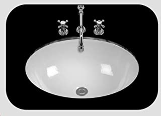 product image for Bates & Bates P1419.WH Debbie White Undermount Lavatory Sink