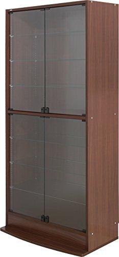 フィギュアラック 天井突っ張りフィギュアラック ワイド83cm幅 高180cm/ブラウン B073TQJLJ7 ブラウン