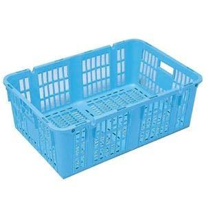 【5個セット】プラスケット/網目ボックス 【No.950 金具付き】 ブルー スタッキング金具使用時:段積み可【代引不可】 B07PJP6K37