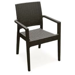 Compamia Ibiza Resin Dining Arm Chair Brown Review