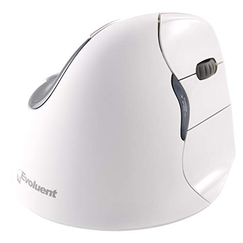 Evoluent VM4RB VerticalMouse 4 Right Hand Ergonomic Mouse with Bluetooth Connection For Mac OS (Regular Size) ()