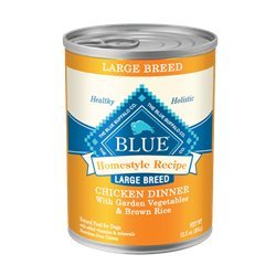 Blue Buffalo Homestyle Recipe Chicken Dinner Large Breed Canned Dog Food, 12.5-oz, case of 12
