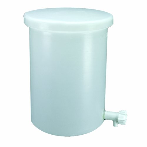 (Thermo Scientific Nalgene 11102-0010 HDPE 10 gallon Cylindrical Heavy Duty Graduated Lab Tank, with Cover and Spigot)