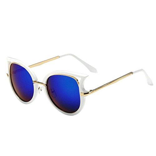 nouvelle qualité Hommes Femmes Classique Nuances couleur rouge jaune orange vert violet bleu blanc rétro Gradient sunglassess COMPLET UV400 Protection GRATUIT vibrant Hut pochette - Vert, One-Size