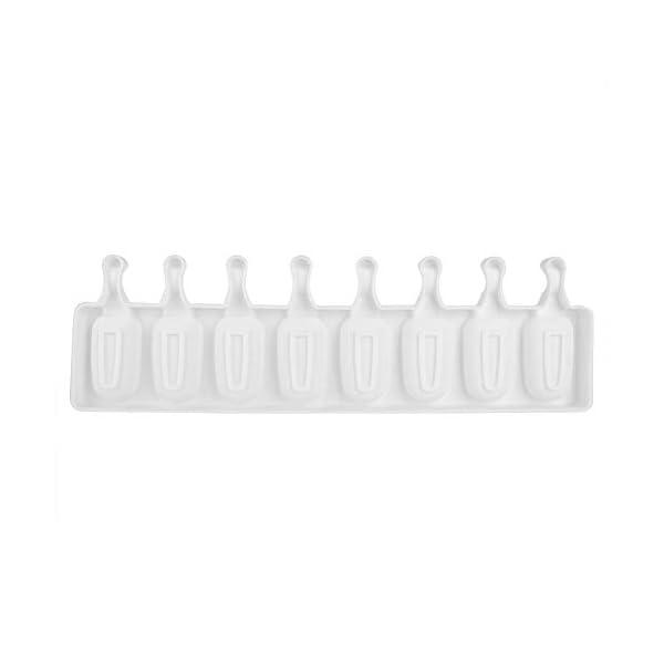Fditt Stampi a ghiacciolo Stampi a 8 cavità Stampi in Silicone Stampi a Stampo in Silicone Stampo in Silicone con stampi… 4 spesavip