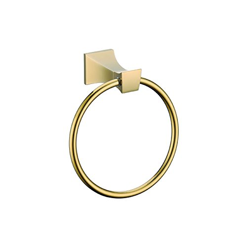 ULING TR0125 Rich Gold Towel Ring Chrome