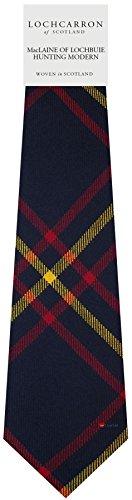 Clan Tie MacLaine Of Lochbuie Hunting Modern Tartan Pure Wool Scottish Handmade Necktie