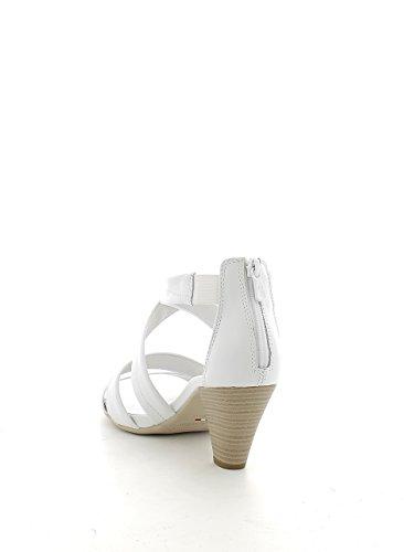 Sandalo incrociato bianco con zip N. 38
