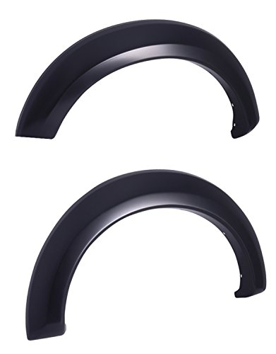 (EGR 753014F Rugged Look Fender Flare Set of 2 No-Drill Front Rugged Look Fender Flare Set of 2)