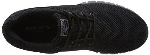 Gola Actieve Angelo Zwarte Heren Fitness Sneakers