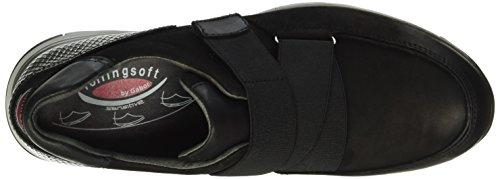 Gabor Shoes Rollingsoft, Mocasines para Mujer Multicolor (Schwarz/Silber 47)