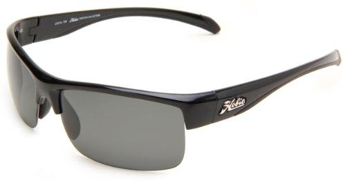 Hobie Rockpile Rectangle Sunglasses,Shiny Black Frame/Grey Lens,One Size (Plus Black Frame Clear Lens)
