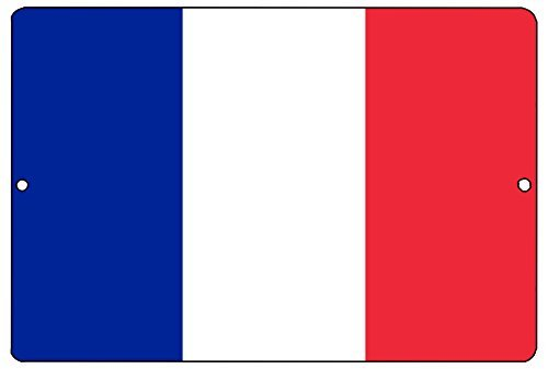 Tina-R French Flag Metal Tin Sign 8x12 inch Wall Decor Man Cave Bar France -