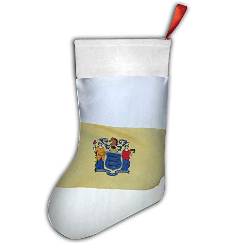 Animated New Jersey Flag Christmas Stockings Sock Decoration for Holiday