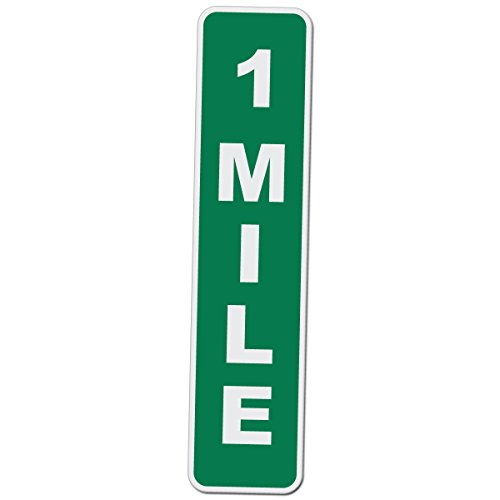 (Applicable Pun 1 Mile Marker - Novelty Drag Racing Sign - 17 Inch Tall by 4 Inch Wide Aluminum Sign )
