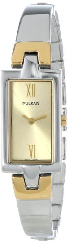 Pulsar Women's PEGG13 Analog Display Japanese Quartz Two Tone Watch