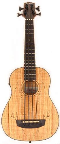 Hadean Acoustic Electric Bass Ukulele UKB-28 Spalted