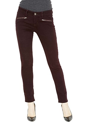- Stylish Designer Jeans Super Skinny Jeans for Women Stretch Jeans Spandex Pants for Women Soft Moto Jeans for Women Super Stretch Soft Comfortable Cotton/Poly Spandex Fabric Sizes 4-18 (10, Burgundy