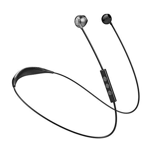 Sport Bluetooth Headphones Waterproof Wireless Sport Earbuds, Richer Bass HiFi Stereo in-Ear Earphones, 7-10 Hrs Playback Running Headphones W/CVC6.0 Noise Cancelling Mic (Gray)