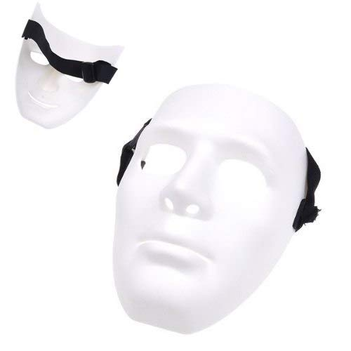 Blank Male Mask - Blank Male Mask Halloween Costume Drama - Party For Terrible White Scary Masquerade Face Korean Actor Man ()