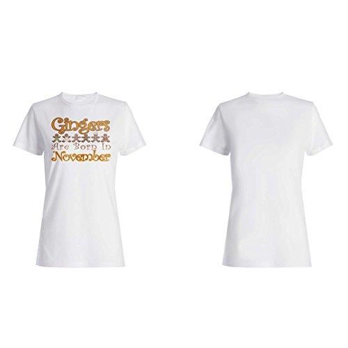 Gingers sind im November geboren Damen T-shirt aa46f