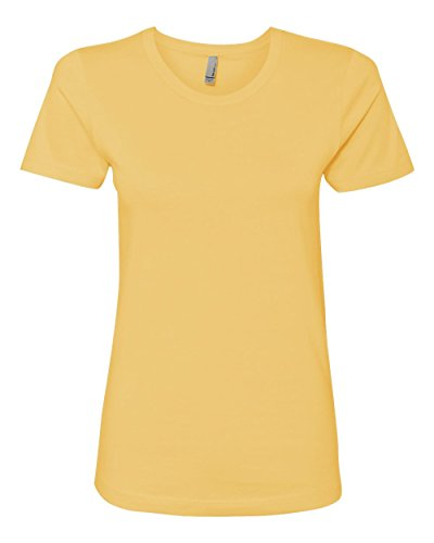 Next Level Apparel Ladies Boyfriend T-Shirt, Banana Cream, Medium (Cream Banana Level Next)
