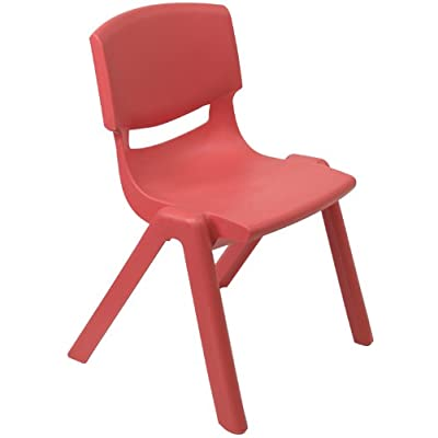 Flash Furniture Red Plastic Stackable School Chair with 10.5'' Seat Height: Kitchen & Dining