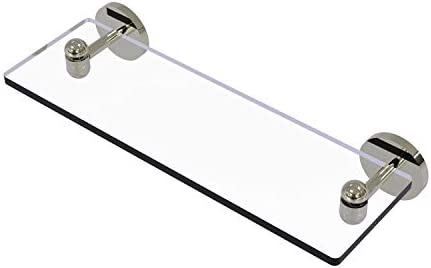 Allied Brass TA-1 16 Tango Collection 16 Inch Vanity Beveled Edges Glass Shelf, Polished Nickel